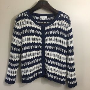 Liz Claiborne knit cardigan sweater. XL